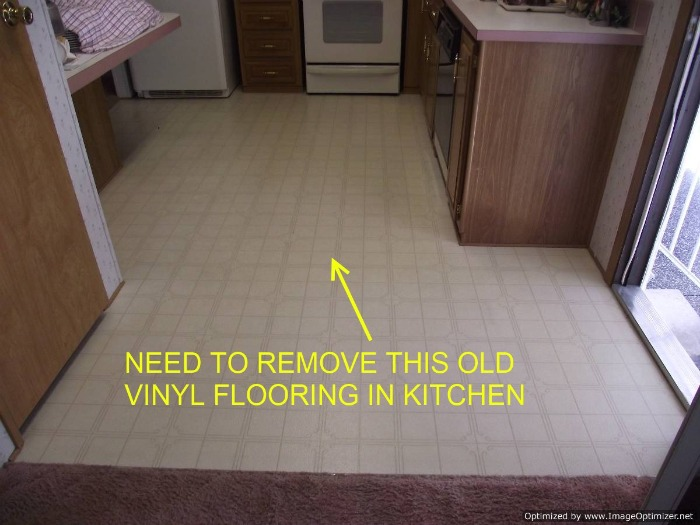 How to remove vinyl flooring westside way of life homes for How to remove plastic floor tiles
